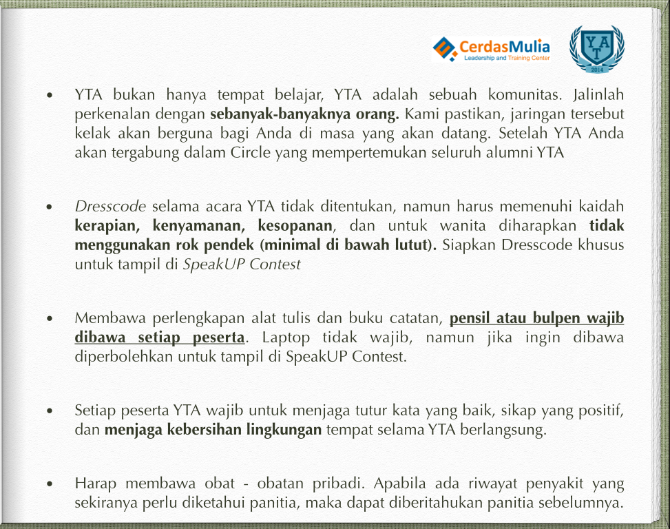Peraturan YTA 5 - 2