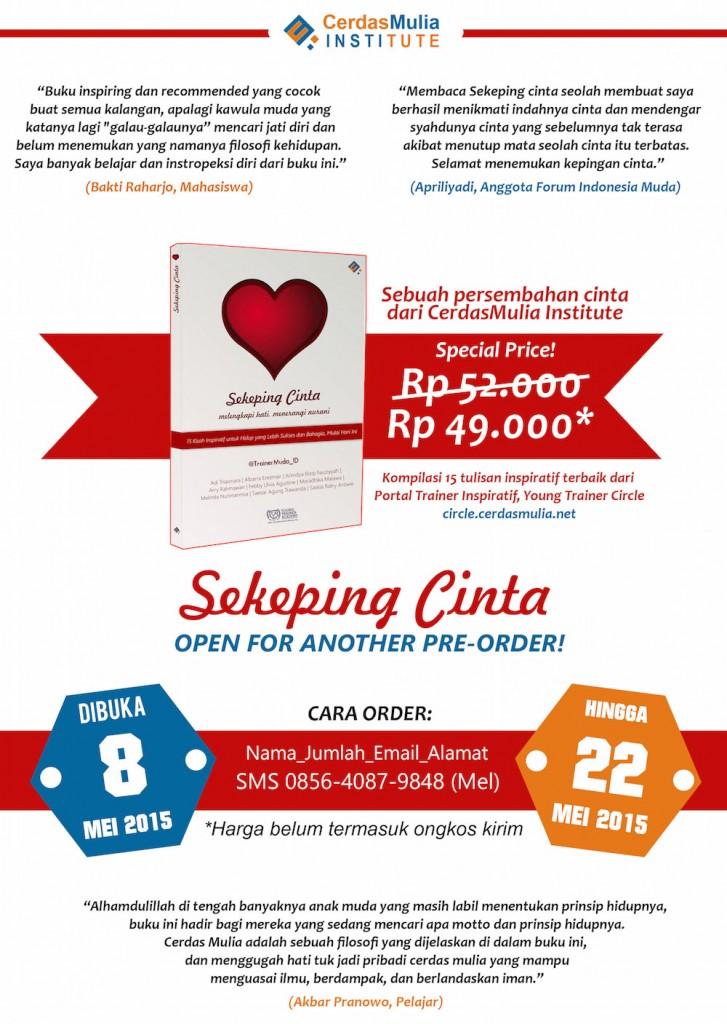 Buku Seri Persembahan Cinta CerdasMulia - Sekeping Cinta